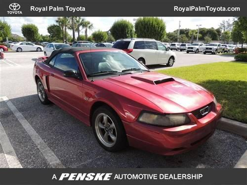 2002 ford mustang convertible 2dr convertible gt deluxe convertible for sale in west palm beach. Black Bedroom Furniture Sets. Home Design Ideas