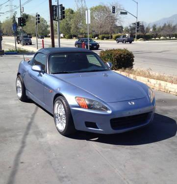 2002 honda s2000 suzuka blue convertible 127k miles for sale in irwindale california. Black Bedroom Furniture Sets. Home Design Ideas