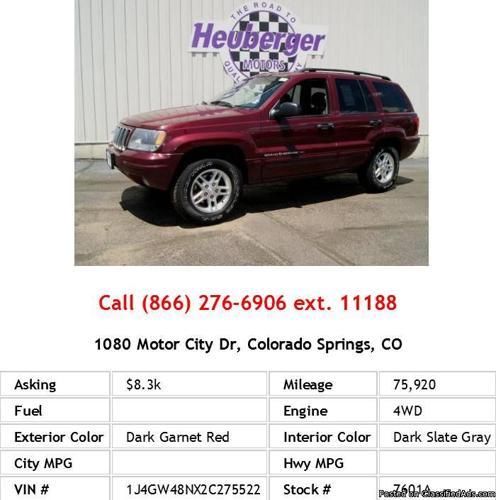 2002 Jeep Grand Cherokee Special Edition Dark Garnet