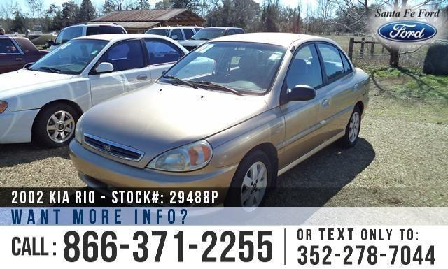 2002 Kia Rio - Manual Transmission - Tinted Windows