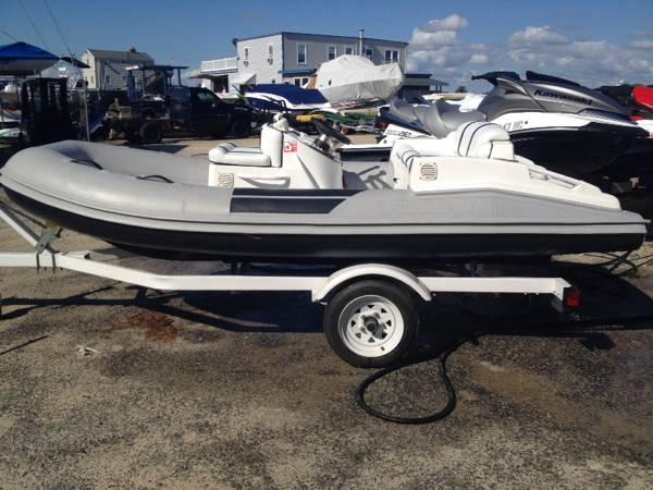 2002 nautical rigid inflatable boat rib with 80 hp yamaha for Yamaha boat motor parts for sale