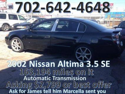 2002 nissan altima 3 5 se for sale in las vegas nevada. Black Bedroom Furniture Sets. Home Design Ideas
