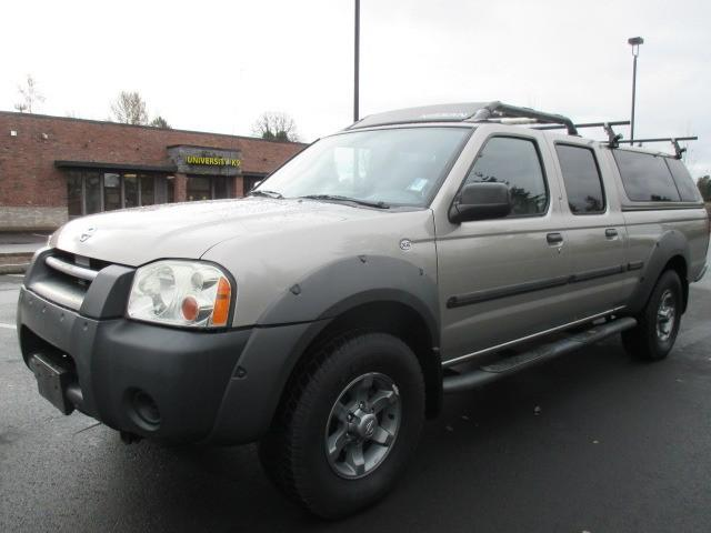2002 nissan frontier xe crew cab v6 auto silver 89k low. Black Bedroom Furniture Sets. Home Design Ideas