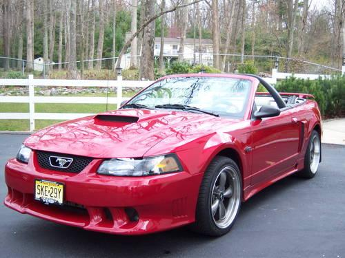 2002 red ford mustang gt convertible w saleen body tonneau. Black Bedroom Furniture Sets. Home Design Ideas