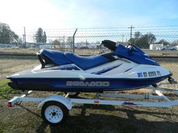 Auto Parts For Sale Redding California: 2002 Seadoo GTX DI Direct Injected 3 Seater With Trailer