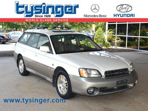 2002 subaru outback 4d station wagon 3 0 for sale in Tysinger motor company