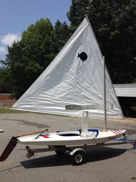 2002 Sunfish sailboat & trailer