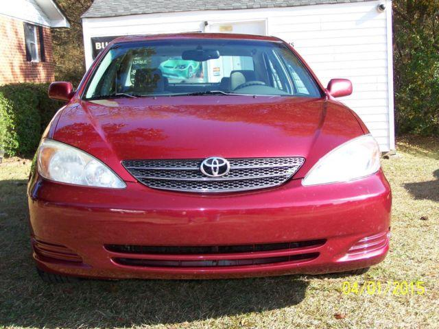 2002 toyota camry xle red for sale in williamston south carolina. Black Bedroom Furniture Sets. Home Design Ideas