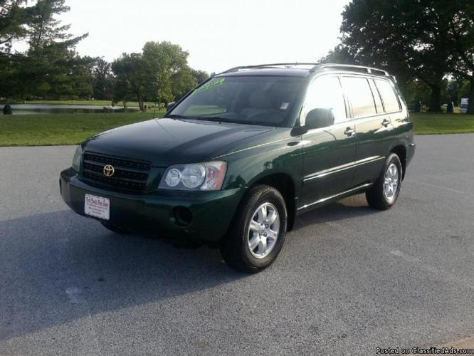 2002 toyota highlander v6 automatic air cloth interior like new condition for sale in. Black Bedroom Furniture Sets. Home Design Ideas