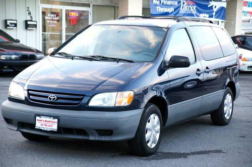 2002 toyota sienna le auto 3 0l blue 117k miles for sale in hagerstown maryland classified. Black Bedroom Furniture Sets. Home Design Ideas