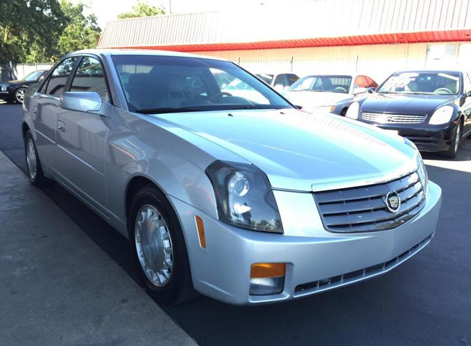 2003 cadillac cts silver luxury sedan loaded leather all pwr v 6 for sale in gold river. Black Bedroom Furniture Sets. Home Design Ideas
