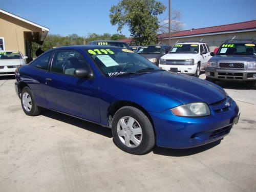 2003 chevrolet cavalier 5 speed coupe blue charcoal free carfax for sale in san antonio. Black Bedroom Furniture Sets. Home Design Ideas