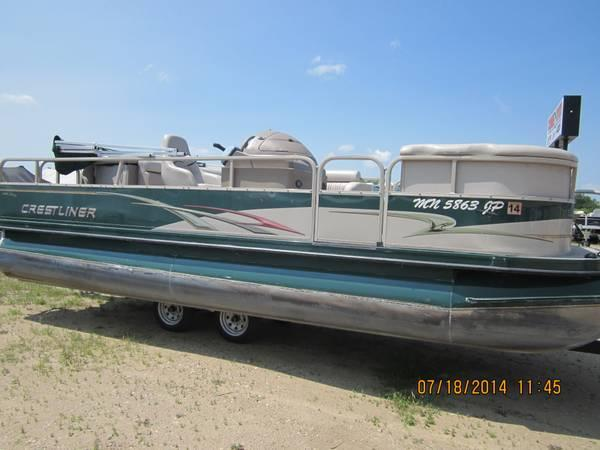 Crestliner pontoon boats parts salvage