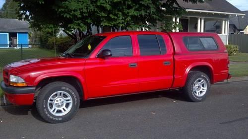 Dodge Dakota Quad Cab W Camper Shell Red K Mi Americanlisted on Dodge Dakota V8