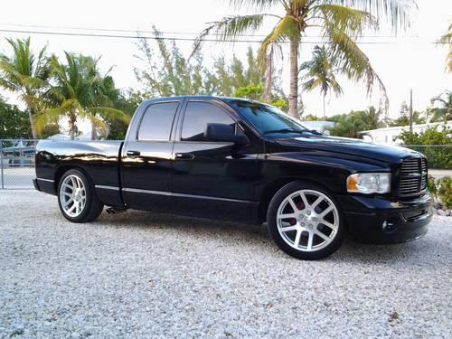 2003 Dodge Ram 1500 Quad Cab Black Black Srt Wheels