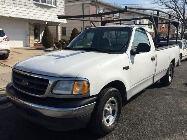 2003 ford f150 xl with ladder hang rack ready for work for sale in staten island new york. Black Bedroom Furniture Sets. Home Design Ideas