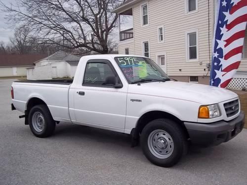 2003 ford ranger xl shortbed 2wd oxford white 121k for sale in baresville pennsylvania. Black Bedroom Furniture Sets. Home Design Ideas