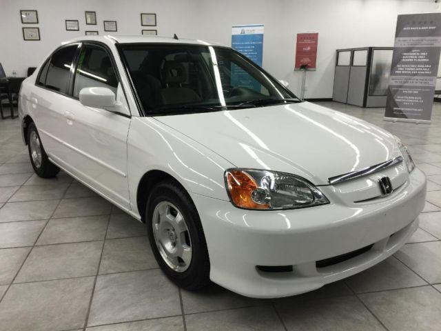 2003 honda civic hybrid 4dr white very clean great mpg. Black Bedroom Furniture Sets. Home Design Ideas