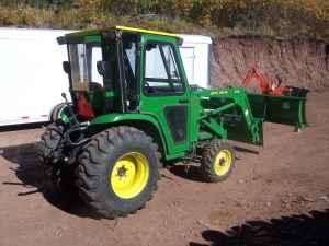 2003 John Deere 4410 4x4 Tractor With Cab Loader