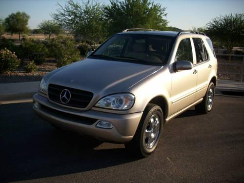 2003 mercedes benz m class ml320 awd gold desert sand tan for 2003 mercedes benz ml320