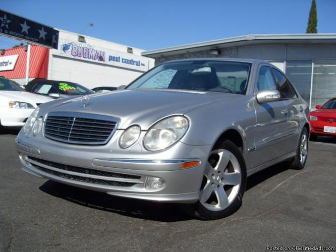 2003 mercedes e500 4dr silver sport pakage fully loaded. Black Bedroom Furniture Sets. Home Design Ideas