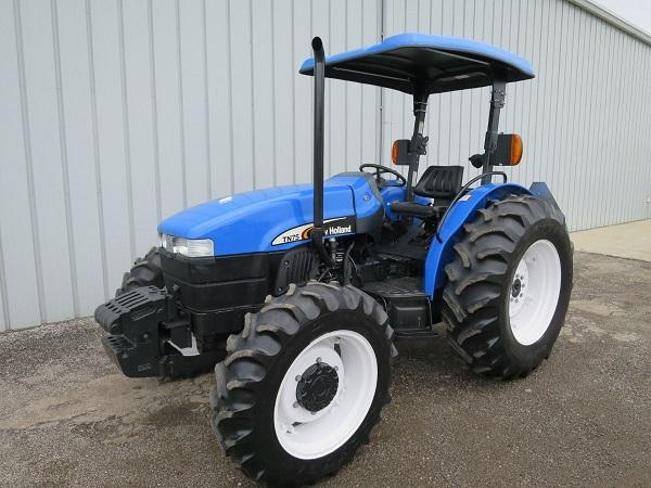 2003 NEW HOLLAND TN75 UTILITY TRACTOR