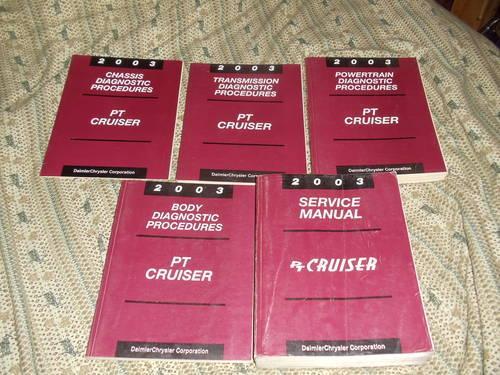 2003 PT CRUISER DIAGNOSTIC MANUALS..COMPLETE 5 PIECE