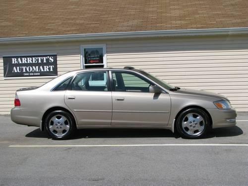 Get 2003 Toyota Avalon Xls