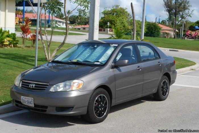 2003 toyota corolla for sale for sale in albuquerque new mexico classified. Black Bedroom Furniture Sets. Home Design Ideas