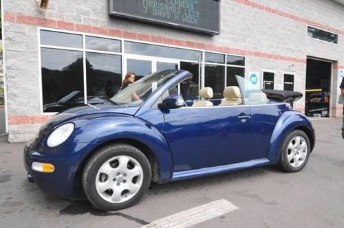 2003 volkswagen new beetle convertible convertible glx for sale in naugatuck connecticut. Black Bedroom Furniture Sets. Home Design Ideas