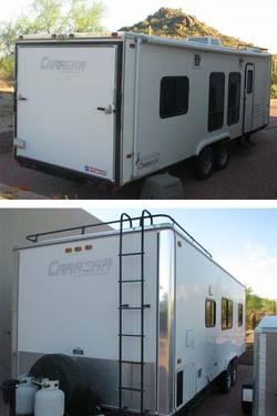 2004 24 Carson Carrera Enclosed Lite Toy Hauler For Sale