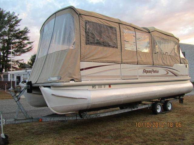 2004 Aqua Patio 24 Ft Pontoon Boat For Sale In Chicopee