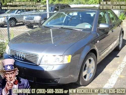 2004 audi a4 1 8t quattro with tiptronic low miles leather for sale in stamford connecticut. Black Bedroom Furniture Sets. Home Design Ideas
