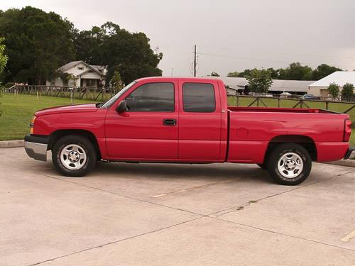 2004 chevrolet silverado extended cab short bed truck in red for sale in spring texas. Black Bedroom Furniture Sets. Home Design Ideas