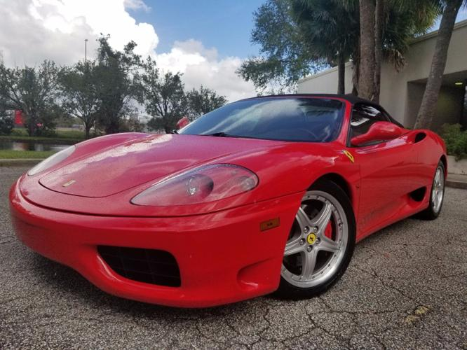 2004 Ferrari 360 Red on Black