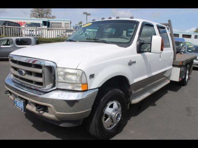 2004 ford f350 super duty king ranch crew cab 4x4 flatbed for sale in mcminnville oregon. Black Bedroom Furniture Sets. Home Design Ideas