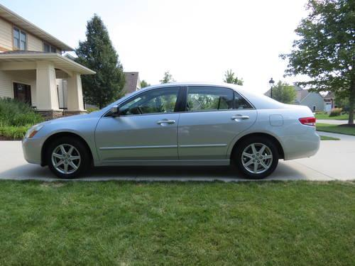 2004 honda accord ex l v6 silver exterior black leather interior for sale in ada michigan. Black Bedroom Furniture Sets. Home Design Ideas
