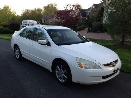 2004 honda accord ex v6 white auto 176k mi for sale in lincoln park new jersey classified. Black Bedroom Furniture Sets. Home Design Ideas