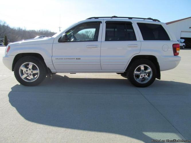 2004 jeep grand cherokee 4x4 limited 4 7 ho v8 white stock nt0729 for sale in co bluffs iowa. Black Bedroom Furniture Sets. Home Design Ideas