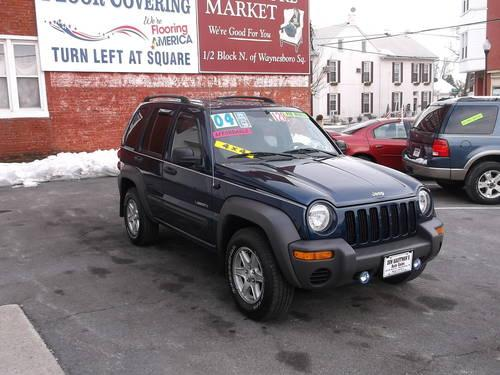 2004 jeep liberty sport 4x4 blue like new pa. Black Bedroom Furniture Sets. Home Design Ideas