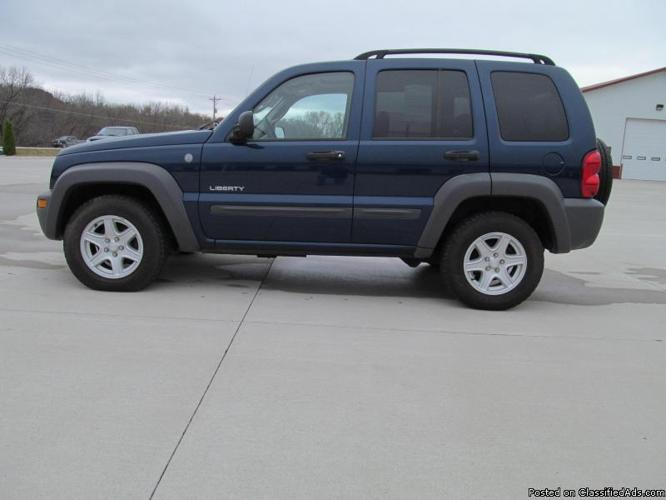 2004 jeep liberty sport 4x4 stock nt0707 for sale in co. Black Bedroom Furniture Sets. Home Design Ideas