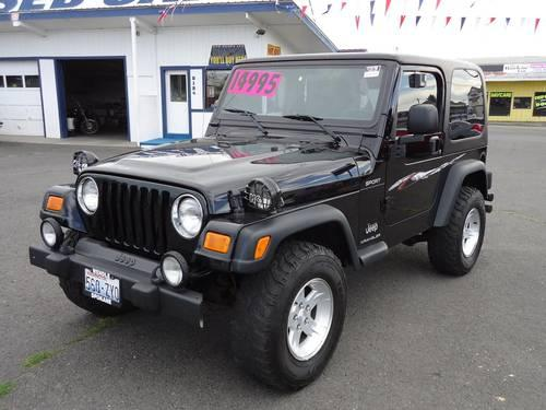 2004 jeep wrangler 2 door suv sport for sale in spokane. Black Bedroom Furniture Sets. Home Design Ideas