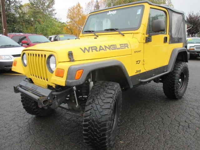 2004 jeep wrangler 2dr sport lifted yellow very cool for sale in portland oregon classified. Black Bedroom Furniture Sets. Home Design Ideas
