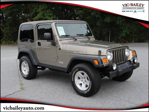 2004 jeep wrangler suv 4x4 rubicon for sale in spartanburg south carolina classified. Black Bedroom Furniture Sets. Home Design Ideas