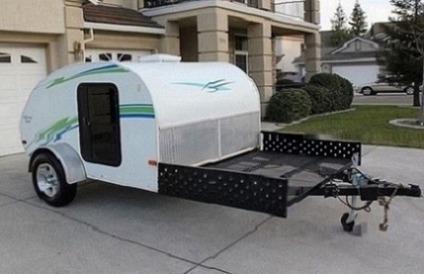2004 Little Guy Sport Teardrop Camper Travel Trailer Toy-hauler very clean