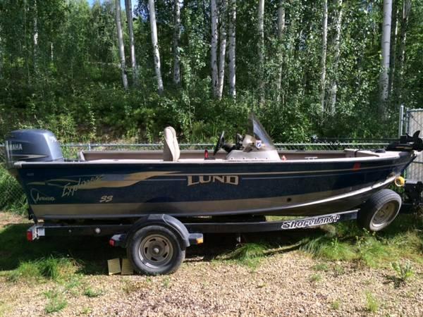 2004 Lund Explorer SS 17' boat - $14000