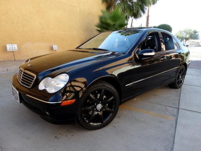 2004 mercedes benz c class 1 8l black for sale in palm for Mercedes benz palm desert