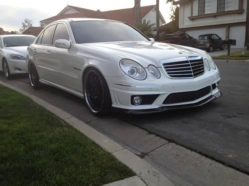 2004 mercedes benz e55 amg 600hp white fully loaded custom for sale in chino hills. Black Bedroom Furniture Sets. Home Design Ideas