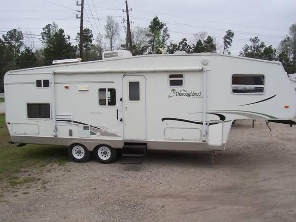 2004 Palomino Thoroughbred 29Ft Fifth Wheel With Slideout & Rear Bunks -  $8500