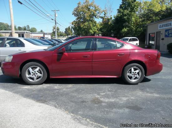 2004 pontiac grand prix gt for sale in dry fork kentucky classified. Black Bedroom Furniture Sets. Home Design Ideas